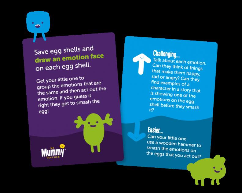 Learn through play activity cards