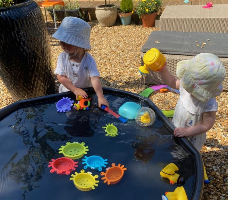 playtime in the summer for kids